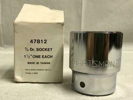 Vintage Craftsman 3/4 Dr Socket 1 1/2 EE Series 47812 New With Box - $19.79