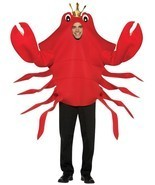 King Crab Adult Costume Red Food Halloween Party Unique One Size Cheap G... - £70.69 GBP