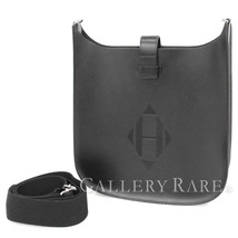 HERMES Evelyne Sellier PM Vache Hunter Black #A Shoulder Bag Authentic 5040544 - $3,472.36