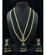 Handmade Kundan Bollywood Style Partywear Necklace Set Bb699 - $47.53