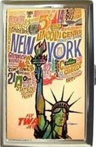 TWA AIRLINES NEW YORK CITY CIGARETTE CARD CASE NEW! - $16.99