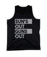 Sun's Out Guns Out Men's Black Tanktop Workout Tank Summer Beach Wear - £11.42 GBP+