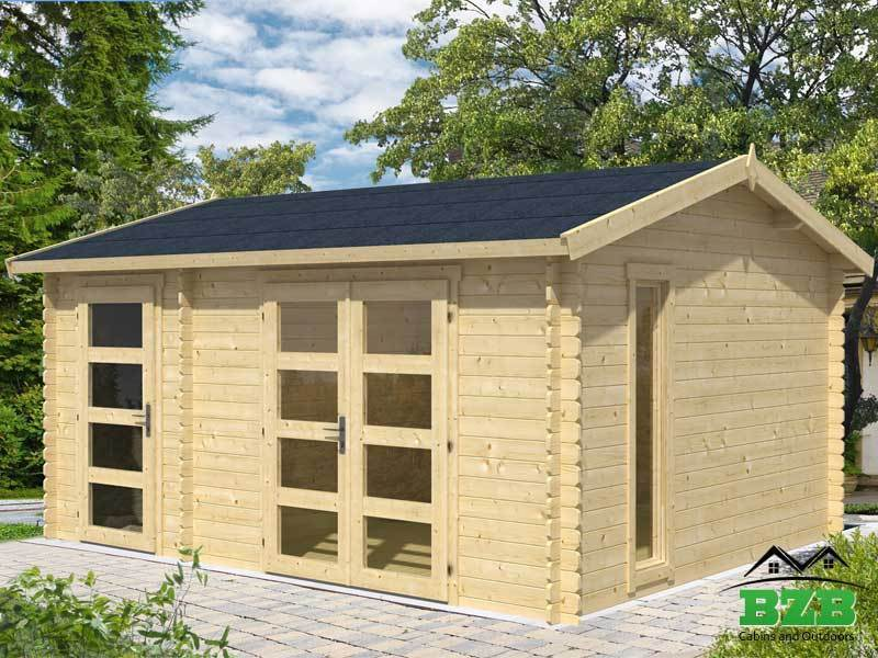 15 x112 bzb log cabin kit and shed 114 sq ft cabin and 57 sq ft
