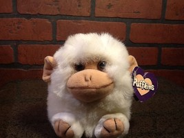 Puffkins White Monkey Trixie w/Tags Vintage - $5.85