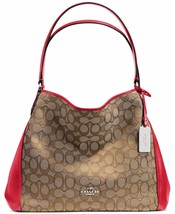 NWT COACH EDIE 31 SIGNATURE JAQUARD SHOULDER BA... - $221.56