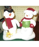 HALLMARK MR & MRS SNOWMAN JINGLE PALS 2003 MUSIC MOTION 1ST FRESH BATTERIES - $32.95
