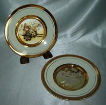 "Lot (2) THE ART OF CHOKIN Gold Edged 6"" Collector's Plates: Swans, Ricks... - $9.70"