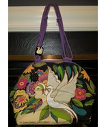 LAUREL BURCH 2004 the swan goddess canvas beade... - $18.99