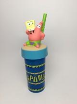 SpongeBob CUP WITH STRAW-BY ZAK DESIGNS - $7.50