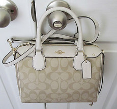 Coach F33329 Coated Canvas MINI BENETTE SATCHEL... - $109.99