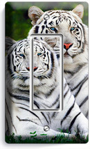 Wild Cute White Bengal Tigers Single Gfi Light Switch Wall Plate Room Home Decor - $11.99