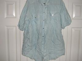 SEAN JOHN XL BLUE /WHITE STRIPED SHIRT - $9.90