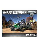 Monster Jam edible cake image cake topper decoration, party supply - $9.99
