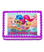 Shimmer and Shine party edible cake image cake topper frosting sheet... - $9.99
