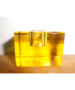 Amber Cube Spell Candle Holder with candle - $3.47