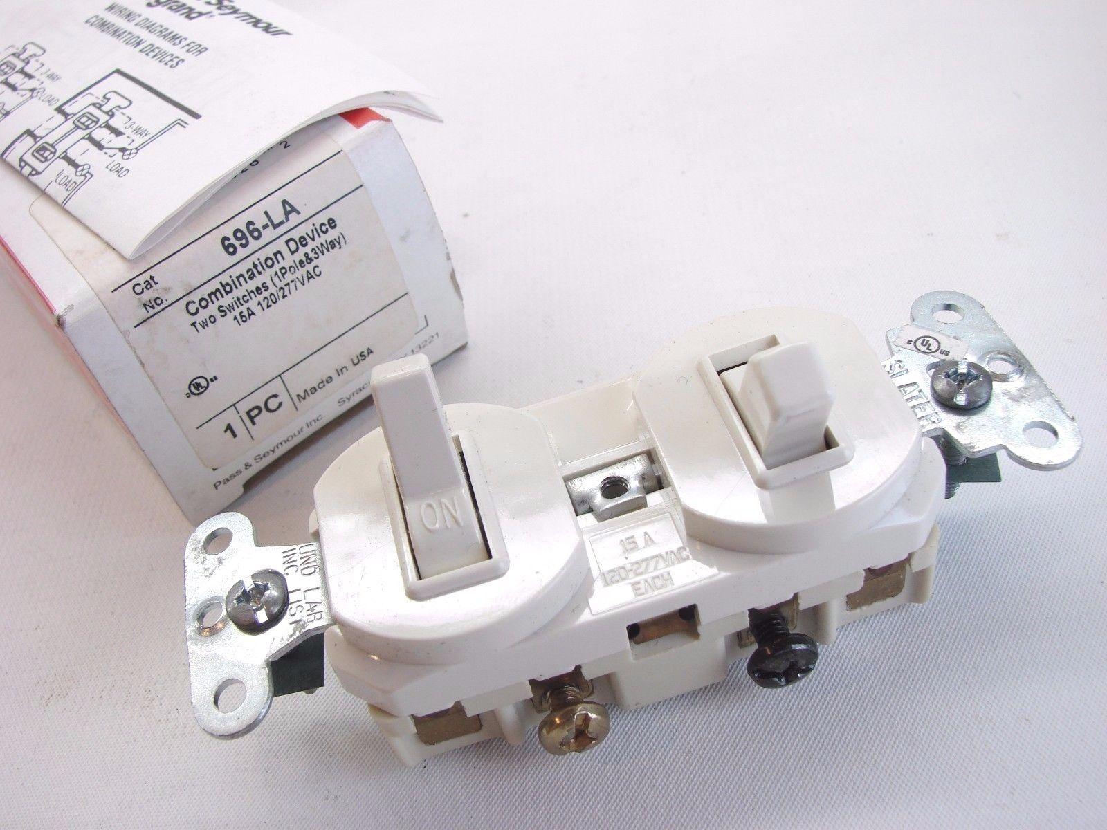 Pass & Seymour 696 La Combo Single Pole/3 and 40 similar items