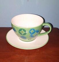 Starbucks Holiday 2006 Green Stocking Cup & Saucer Set - $14.01