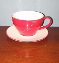 Starbucks Holiday 2006 Red Christmas Tree Cup & Saucer Set - $14.01