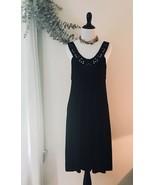 BCBG Max Azria Sleeveless Black Dress Size Medium Stretchy Tshirt Material - $23.51
