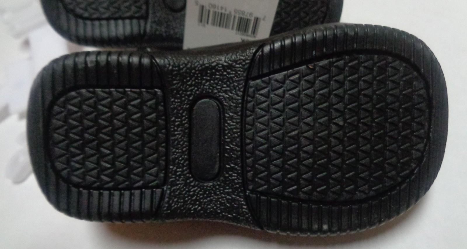 Black Faux Leather Slip On Loafers NWT Children's Sz 4 Medium Okie Dokie