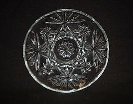 "Anchor Hocking Prescut Clear Glass EAPC Early American 4-1/2"" Coaster Oatmeal - $9.89"