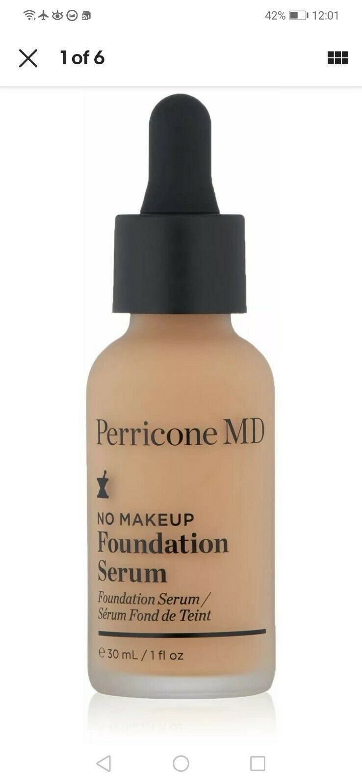 (1) NEW Perricone MD No Makeup Foundation Serum NUDE SPF