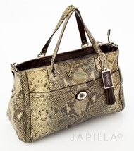 Coach F24384 Park Python Carryall shoulder bag ... - $197.01