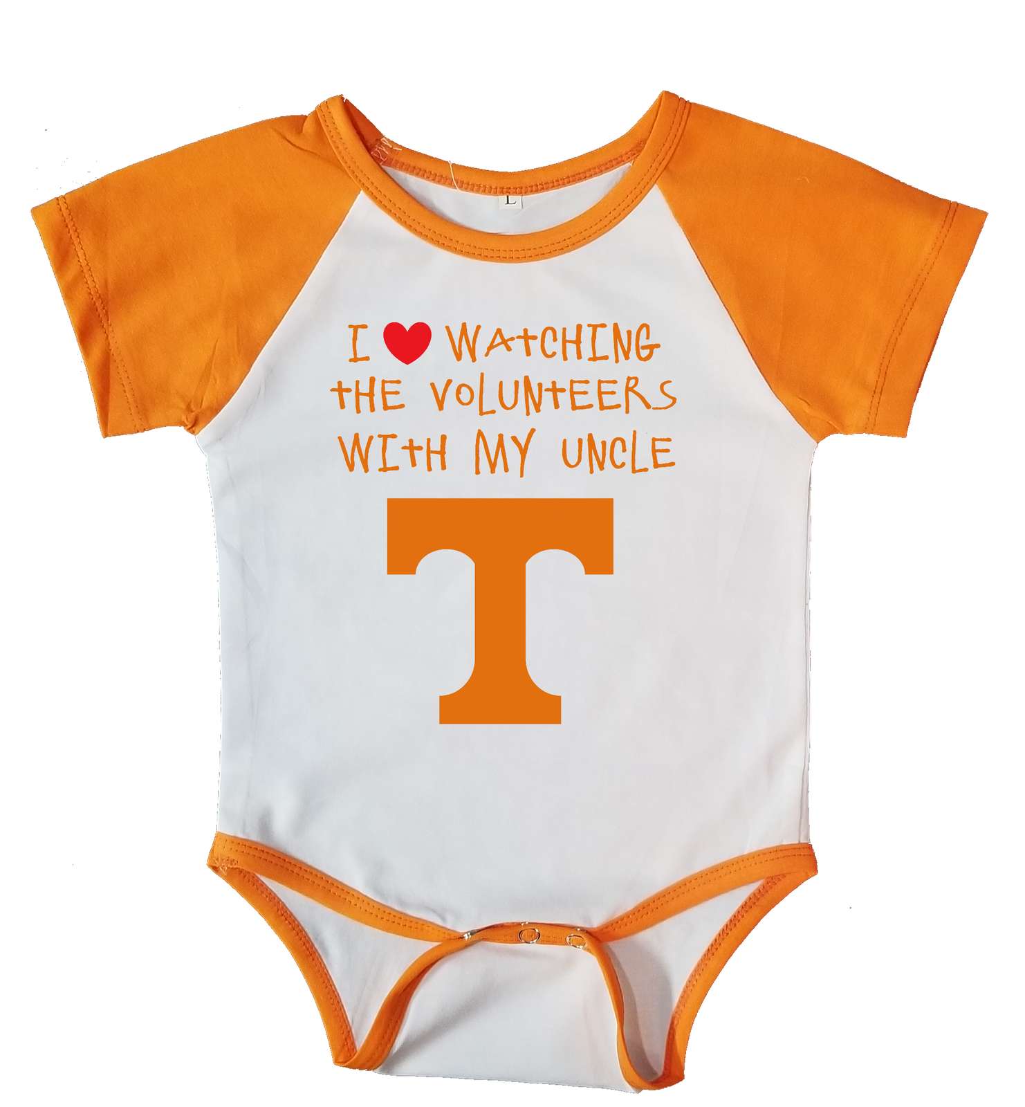 Primary image for Tennessee  Volunteers Love Watching With My Uncle Bodysuit Orange