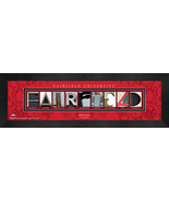 Personalized Fairfield University Campus Letter Art Framed Print - $39.95