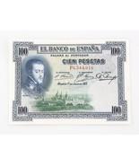 1925 Spain One Hundred Peseta Note XF+ Banco de... - $44.55