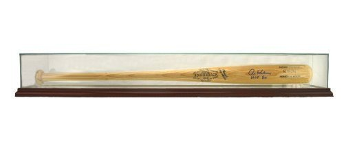 Glass Baseball Bat Display Case with Cherry Wood Molding