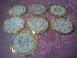 Offer 7 Planetary Seals Pentacles of Sun, glory, riches, Tetragrammaton,... - $80.00