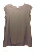 Liz Lange Maternity Black Short Sleeve Women's Shirt Large 100% Polyester