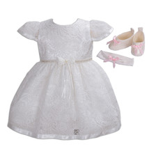 New Girls Ivory Lace Christening Party Dress 0 3 6 12 18 24 Months - $29.06