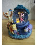 Disney Winnie the Pooh Chasing Fireflies Animated Lighted Musical Snow g... - $70.00