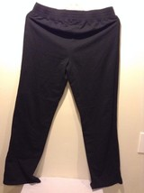 Women's Black Silverwear NY Cotton Sweatpants Elastic Good Used Condition
