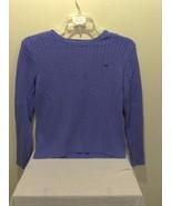 Women's Izod 100% Cotton Purple Vertical Striped Braid Pattern Long Slee... - $39.99