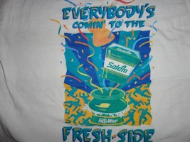Vintage 1992 White Salem Cigarettes Coming to the Fresh Side t shirt Fit... - $21.62