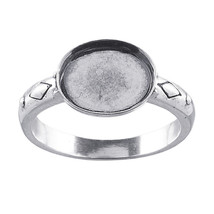 Sterling Silver 10 x 8mm Oval Cabochon Ring Mou... - $19.95