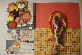 CHEERLEADING DIY Paper Bag Album Scrapbooking Kit 100+pc - $2.99