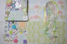 BABY SHOWER DIY Paper Bag Album Scrapbooking Kit 100+pc - $2.99