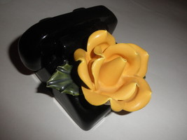 ceramic  phone decoration with flower on dial   ,,,, free shipping - $11.88
