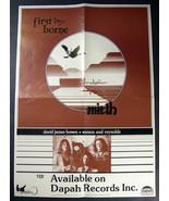 obscure Canada folk MIRTH 1977 orig promo POSTER First Borne - $34.91