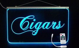 Edge Lit LED Remote Controlled Mult-color Cigars Sign *Can add logo, Han... - $138.60