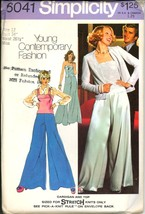 Uncut 1970s Size 12 Bust 34 Palazzo Pants Cardigan Cami Simplicity 6041 ... - $8.99