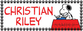 10 Snoopy Personalized Waterproof Name Label Sticker for Back to School - $5.99