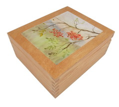 Wooden Tea Box Handpainted by Artist - $18.95