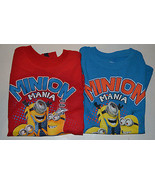 Despicable Me Boys  T- Shirt  Size L 7  M 5 /6 NWT Red or Blue - $11.99