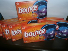 8 NEW BOXES OF BOUNCE 34 SHEETS DRYER SHEETS SWEET DREAMS SCENT 272 SHEE... - $28.05