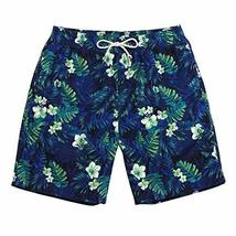 DRAGON SONIC Hot Spring Beach Pants Men's Quick-drying Slacks Holiday Swimsuit,L - $27.94